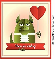 πράσινο , εσείs , αγάπη , τέρας