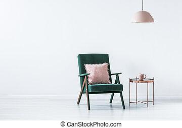 πράσινο , και , ροζ , απλό , εσωτερικός