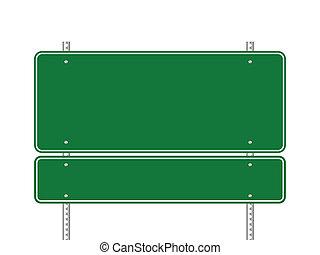 πράσινο , κενό , σήμα κυκλοφορίας