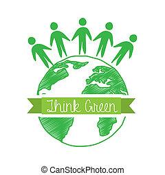 πράσινο , κρίνω