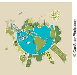 πράσινο , κόσμοs , φόντο