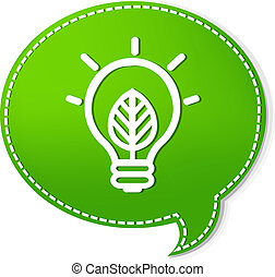 πράσινο , λόγοs , αφρίζω , με , λάμπα , σύμβολο