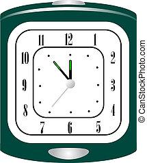 πράσινο , ξυπνητήρι