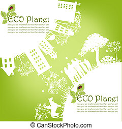 πράσινο , οικολογικός , πλανήτης