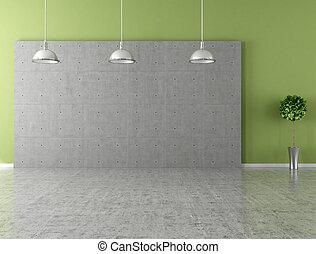 πράσινο , σύγχρονος , άδειο δωμάτιο