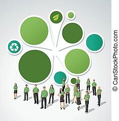 πράσινο , φόρμα , για , διαφήμιση