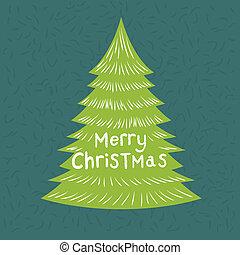 πράσινο , χριστουγεννιάτικο δέντρο