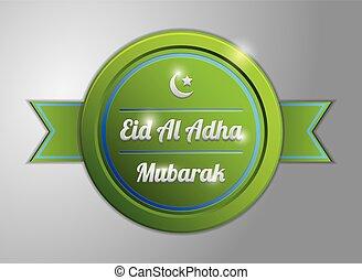 πράσινο , adha, σήμα , eid, al