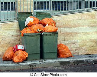 πράσινο , cans , σκουπίδια