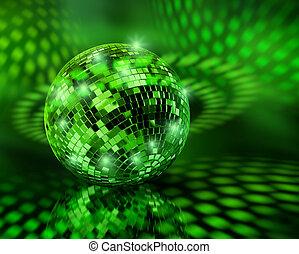 πράσινο , disco μπάλα , σφαίρα