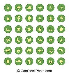 πράσινο , eco, απεικόνιση , θέτω