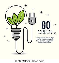 πράσινο , eco, βολβός , ελαφρείς