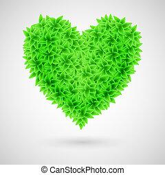 πράσινο , heart.