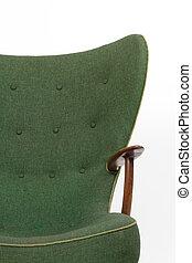 πράσινο , retro , πολυθρόνα , αναμμένος αγαθός , φόντο