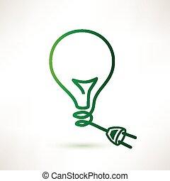 πρίζα , αφαιρώ , μικροβιοφορέας , πράσινο , βολβός , εικόνα