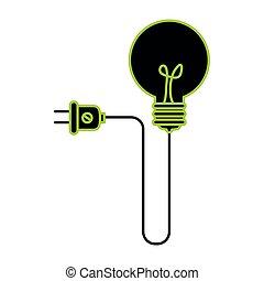 πρίζα , ελαφρείς , ενέργεια , ιδέα , βολβός