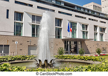 πρεσβεία , από , γαλλία , μέσα , βερολίνο , κάτω στην πόλη , germany.