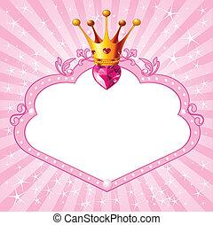 πριγκίπισα , ροζ , κορνίζα