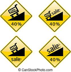 προεξοφλώ , πώληση , εκατοστιαία , επιγραφή , σήμα , σύμβολο