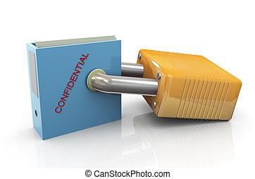 προστασία , από , εμπιστευτικός , άγκιστρο για ανάρτηση εγγράφων