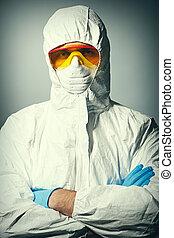 προστατευτικός , επιστήμονας , φορώ