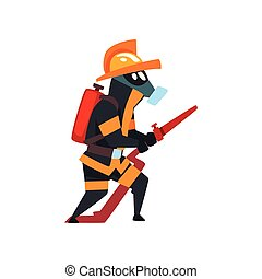 προστατευτικός , πυροσβέστηs , φωτιά , πυροσβέστης , μάσκα , εικόνα , ομοειδής , μικροβιοφορέας , φόντο , άσπρο , μάνικα , χαρακτήρας