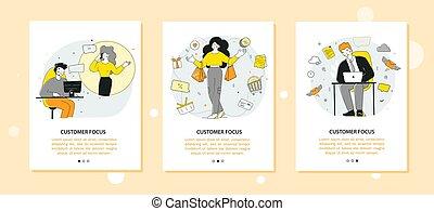προσφορά , πελάτες , template., κινητός , ειδικό , app , shopping., πελάτης , οθόνη , προσανατολισμός , σελίδα , online
