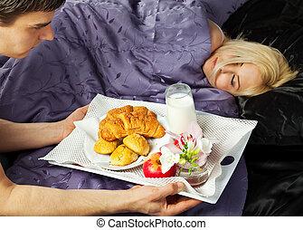 πρωινό , κρεβάτι