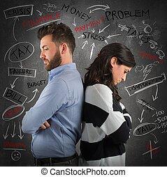 πρόβλημα , ζευγάρι , οικονομικός
