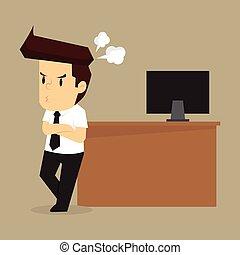 πρόβλημα , θυμός , επιχειρηματίας