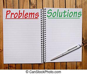 πρόβλημα , λέξη , διάλυμα