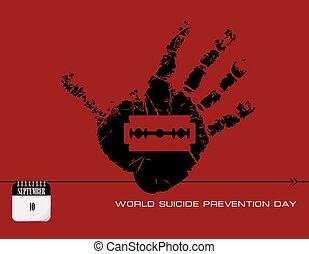 πρόληψη , ταχυδρομώ , αυτοκτονία , ημέρα , κάρτα