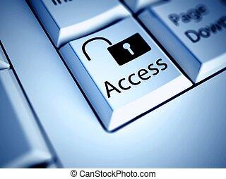 πρόσβαση , γενική ιδέα , internet , κουμπί , πληκτρολόγιο