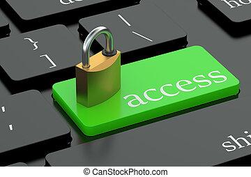 πρόσβαση , κουμπί , πληκτρολόγιο