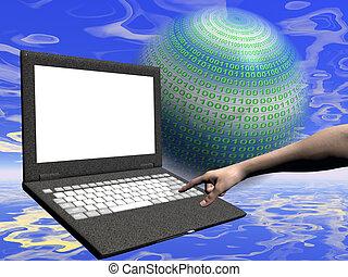 πρόσβαση , internet , laptop
