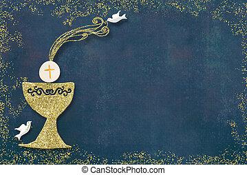 πρόσκληση , card., επαφή , άγιος , πρώτα