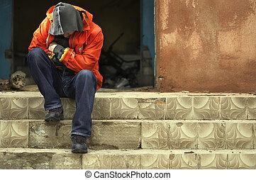 πρόσωπο , άστεγος