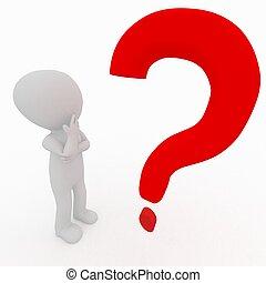 πρόσωπο , - , ερώτηση , 3d , βαθμολογία