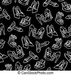 πρότυπο , δραμάτιο , seamless, παπούτσια