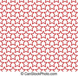 πρότυπο , κύκλοs , αστέρι , seamless, κόκκινο