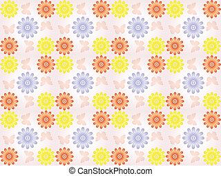 πρότυπο , λουλούδια , butterflie