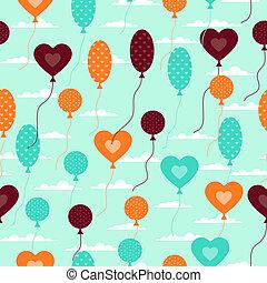 πρότυπο , μπαλόνι , style., seamless, retro