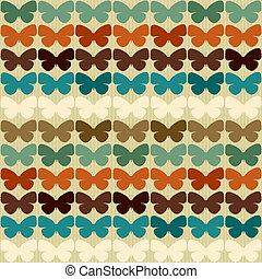 πρότυπο , πεταλούδες , style., seamless, retro