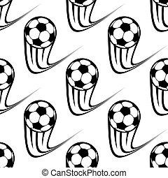 πρότυπο , ποδόσφαιρο μπάλα , seamless, τρέχει με ταχύτητα