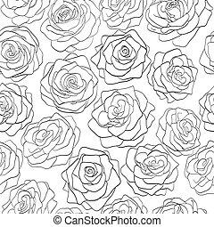 πρότυπο , seamless, τριαντάφυλλο