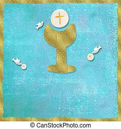 πρώτα , άγιος , επαφή , πρόσκληση , φόντο