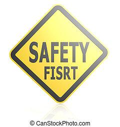 πρώτα , ασφάλεια , δρόμος αναχωρώ