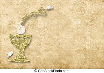 πρώτα , επαφή , card., άγιος , πρόσκληση