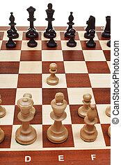 πρώτα , κίνηση , πιόνι , επάνω , πίνακας σκακιού