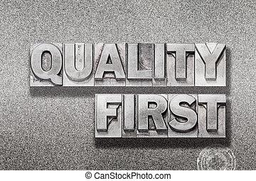 πρώτα , ποιότητα , μεταλλικός